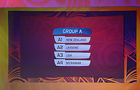 Group A. Official Draw for the FIFA U 20 Football World Cup, New Zealand 2015. Sky City, Auckland. Tuesday 10 February 2015. Copyright photo: Andrew Cornaga / www.photosport.co.nz