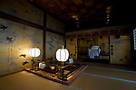 Photo shows the Yushinden, a room built in 1899 for the Imperial family, at Dogo Onsen, thought to be Japan's oldest spa in Matsuyama City, Ehime Prefecture, Japan on 20 Feb. 2013.  Photographer: Robert Gilhooly