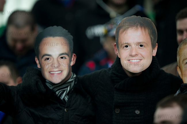 Ant and Dec in the Rangers support