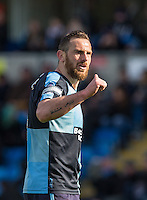 Paul Hayes of Wycombe Wanderers gives thumbs up during the Sky Bet League 2 match between Wycombe Wanderers and Barnet at Adams Park, High Wycombe, England on 16 April 2016. Photo by Andy Rowland.