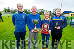 At the Eric Mason Tournament in Ballymac on Saturday morning<br /> L to r: Gerard Collins (Juvenile Sec Ballymac GAA), Adrian and Anna Mason and Declan O'Connell (Juvenile Chairman Ballymac GAA).