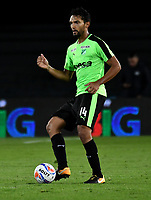 BOGOTA - COLOMBIA - 23 - 01 - 2018: Abel Aguilar, jugador de Deportivo Cali, en acción, durante partido entre America de Cali y Deportivo Cali, por el Torneo Fox Sports 2018, jugado en el estadio Nemesio Camacho El Campin de la ciudad de Bogota. / Abel Aguilar, player of Deportivo Cali, in action, during a match between America de Cali y Deportivo Cali, for the Fox Sports Tournament 2018, played at the Nemesio Camacho El Campin stadium in the city of Bogota. Photo: VizzorImage / Luis Ramirez / Staff.
