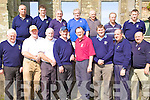 Members of the Ballyheigue Castle Golf Club Team, who hosted the Dr. Billy O'Sullivan Shield on Saturday. Front l/r Michael O'Neill, Stephen Reidy, John Collins, Michael Leen, Jimmy O'Sullivan, Patrick Bunyan (Manager), John White and Tim Kelly. Standing l/r Patrick O'Connell, John Joy, Brendan Harty, Paddy Walshe, Larry Meaney, Gunter Siech and Tom Gentleman............................................................................................................................................................................................................................................................ ............