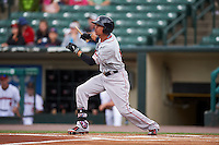 Pawtucket Red Sox outfielder Quintin Berry (17) at bat during a game against the Rochester Red Wings on July 1, 2015 at Frontier Field in Rochester, New York.  Rochester defeated Pawtucket 8-4.  (Mike Janes/Four Seam Images)