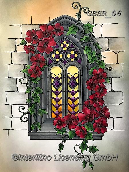 Sandra, STILL LIFE STILLEBEN, NATURALEZA MORTA, paintings+++++gothic window,GBSR06,#I#, EVERYDAY