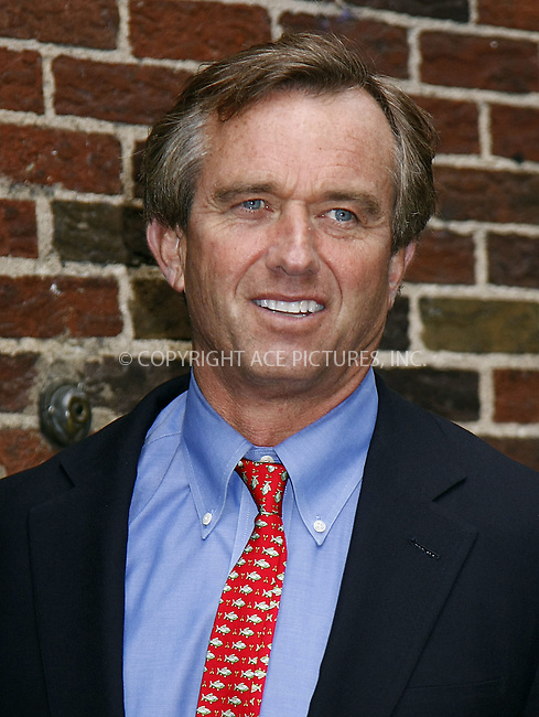 WWW.ACEPIXS.COM . . . . .  ....May 12 2008, New York City....Robert F. Kennedy Jr. made an appearance at  the 'Late Show With David Letterman'  at the Ed Sullivan Theater in midtown Manhattan....Please byline: AJ Sokalner - ACEPIXS.COM..... *** ***..Ace Pictures, Inc:  ..te: (646) 769 0430..e-mail: info@acepixs.com..web: http://www.acepixs.com