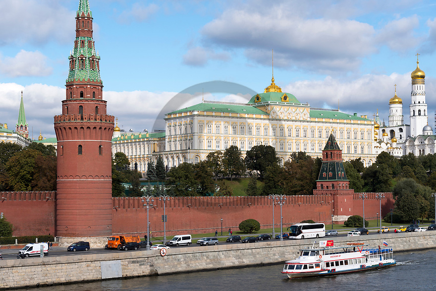 29/09/18 - MOSCOU - RUSSIE - Illustration, Le Kremlin - Photo Jerome CHABANNE