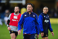 Bath Rugby Head Coach Tabai Matson looks on during the pre-match warm-up. Aviva Premiership match, between Bath Rugby and Exeter Chiefs on December 31, 2016 at the Recreation Ground in Bath, England. Photo by: Patrick Khachfe / Onside Images