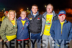 Carol and Noreen Daly with Keelan Brosnan, Anthony Daly and Wesley Sexton, all from Castlemaine, taking part in the Darkness into Light walk in Tralee on Saturday morning last.