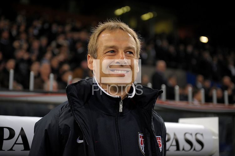 GENOVA, ITALY - February 29, 2012: Head coach Juergen Klinsmann (USA), during the friendly match, Italy against USA at the Stadium Luigi Ferraris in Genova, Italy.