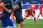Florian Kainz (1. FC Koeln) dehnt sich vor dem Spiel.<br /> <br /> Sport: Fussball: 1. Bundesliga: Saison 19/20: 28. Spieltag: TSG 1899 Hoffenheim - 1. FC Koeln, 27.05.2020<br /> <br /> Foto: Markus Gilliar/GES/POOL/PIX-Sportfotos.<br /> <br /> Nur für journalistische Zwecke! Only for editorial use!<br /> <br /> Gemäß den Vorgaben der DFL Deutsche Fußball Liga ist es untersagt, in dem Stadion und/oder vom Spiel angefertigte Fotoaufnahmen in Form von Sequenzbildern und/oder videoähnlichen Fotostrecken zu verwerten bzw. verwerten zu lassen. DFL regulations prohibit any use of photographs as image sequences and/or quasi-video.