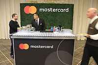 Media reception held by Mastercard at the end of Wednesday's Pracitce Day of the 2018 AT&amp;T Pebble Beach Pro-Am, held over 3 courses Pebble Beach, Spyglass Hill and Monterey, California, USA. 7th February 2018.<br /> Picture: Eoin Clarke | Golffile<br /> <br /> <br /> All photos usage must carry mandatory copyright credit (&copy; Golffile | Eoin Clarke)