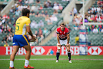 Hong Kong vs Brazil during their HSBC Sevens Wold Series Qualifier match as part of the Cathay Pacific / HSBC Hong Kong Sevens at the Hong Kong Stadium on 27 March 2015 in Hong Kong, China. Photo by Xaume Olleros / Power Sport Images