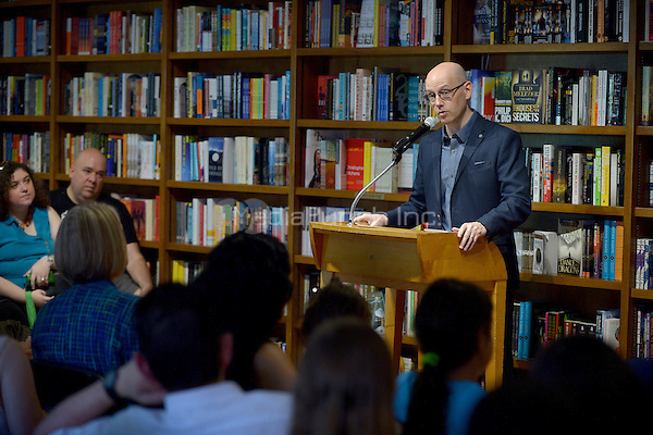 """CORAL GABLES, FL - JUNE 09: Author Brad Meltzer  signs copies of his new book """" The House of Secrets '' at Books and Books on June 9, 2016 in Coral Gables, Florida.  Credit: MPI10 / MediaPunch"""