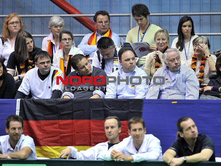 06.03.2011., Zagreb - Dom sportova, prvo kolo ITF Davis cupa, Hrvatska - Njemacka. Ivo Karlovic - Philipp Petzschner.<br />                                                                                                   Foto &copy;  nph / PIXSELL