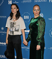 Esme Creed-Miles and Samantha Morton at the British Independent Film Awards (BIFA) 2018, Old Billingsgate Market, Lower Thames Street, London, England, UK, on Sunday 02 December 2018.<br /> CAP/CAN<br /> &copy;CAN/Capital Pictures