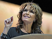 Former Governor Sarah Palin (Republican of Alaska) speaks at the Conservative Political Action Conference (CPAC) at the Gaylord National at National Harbor, Maryland on Saturday, March 8, 2014.<br /> Credit: Ron Sachs / CNP