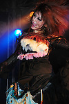 Kaohsiung, Taiwan -- Singer TWIN of the Japanese metal band SOUNDWITCH dancing on stage during the 'Kiss Me Kill Me 2011 Tour' at The Wall Live House (Pier 2) in Kaohsiung, Taiwan.
