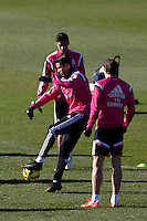 Cristiano Ronaldo and Bale during a sesion training at Real Madrid City in Madrid. January 23, 2015. (ALTERPHOTOS/Caro Marin) /NortePhoto<br />