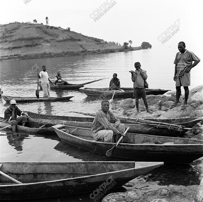 Fishing on Lake Kivu in western Rwanda, 2002