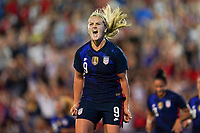 11th Mach 2020, Frisco, Texas, USA;  Lindsey Horan of the USA celebrates her goal during the 2020 SheBelieves Cup Womens International Friendly,  football match between USA Women versus Japan Women at Toyota Stadium in Frisco, Texas, USA.