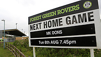 General view of the entrance to Forest Green Rovers FC during Forest Green Rovers vs MK Dons, Caraboa Cup Football at The New Lawn on 8th August 2017