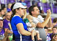 Orlando, FL - Saturday July 07, 2018: Fans during the second half of a regular season National Women's Soccer League (NWSL) match between the Orlando Pride and the Washington Spirit at Orlando City Stadium. Orlando defeated Washington 2-1.