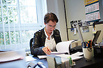 Berlin, 24.9.2014. Verlagsbüro von Hentrich & Hentrich,  einem Verlagshaus für jüdische Kultur und Zeitgeschichte aus Berlin. Verlagsleiterin Dr. Nora Pester.