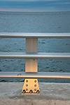 Oceanfront aluminum guardrail and fence.