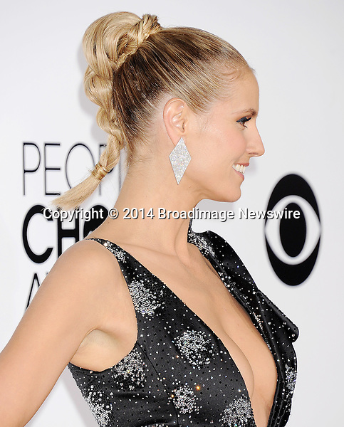 Pictured: Heidi Klum<br /> Mandatory Credit &copy; Gilbert Flores /Broadimage<br /> 2014 People's Choice Awards <br /> <br /> 1/8/14, Los Angeles, California, United States of America<br /> Reference: 010814_GFLA_BDG_116<br /> <br /> Broadimage Newswire<br /> Los Angeles 1+  (310) 301-1027<br /> New York      1+  (646) 827-9134<br /> sales@broadimage.com<br /> http://www.broadimage.com