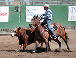 Steve Felton competes in the Ranch Horse Class at the Minden Ranch Rodeo on Saturday, July 21, 2012..Photo by Cathleen Allison