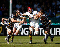 Photo: Richard Lane/Richard Lane Photography. Worcester Warriors v London Wasps. Guinness Premiership. 17/04/2010. Wasps' Dan Ward-Smith attacks.