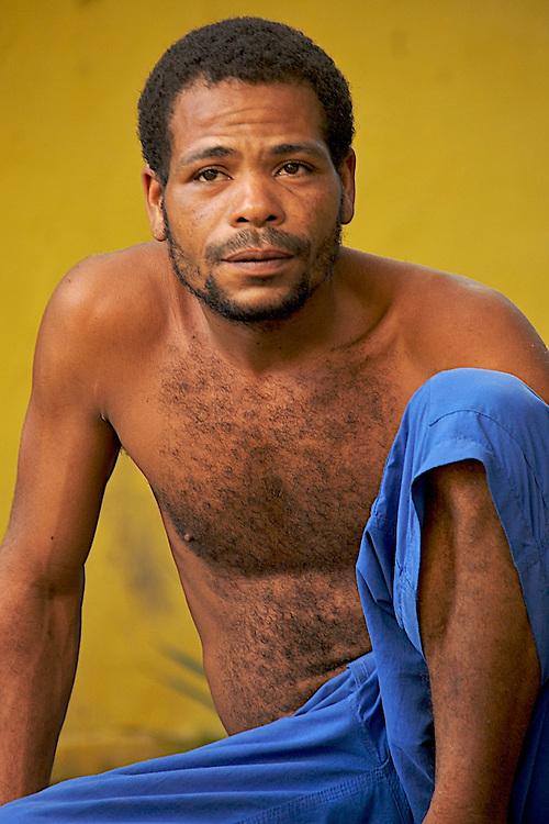 Brazilian man in Caraiva, Bahia, Brazil.