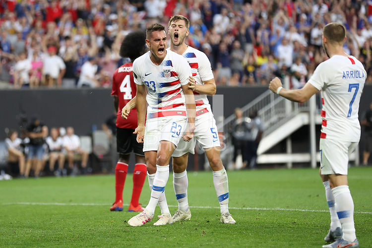 CLEVELAND, OHIO - JUNE 23: Aaron Long #23 during a 2019 CONCACAF Gold Cup group D match between the United States and Trinidad & Tobago at FirstEnergy Stadium on June 23, 2019 in Cleveland, Ohio.