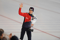 SCHAATSEN: ERFURT: Gunda Niemann Stirnemann Eishalle, 22-03-2015, ISU World Cup Final 2014/2015, winner 3000m Ladies World Cup, Martina Sábliková (CZE), ©foto Martin de Jong