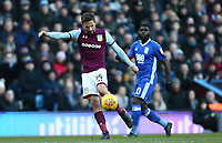 Conor Hourihane of Aston Villa scores Aston Villa's second goal <br /> Photographer Leila Coker/CameraSport<br /> <br /> The EFL Sky Bet Championship - Aston Villa v Birmingham City - Sunday 11th February 2018 - Villa Park - Birmingham<br /> <br /> World Copyright &copy; 2018 CameraSport. All rights reserved. 43 Linden Ave. Countesthorpe. Leicester. England. LE8 5PG - Tel: +44 (0) 116 277 4147 - admin@camerasport.com - www.camerasport.com