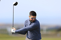 Sean Ryan (Royal Dublin) on the 1st tee during Round 3 of The West of Ireland Open Championship in Co. Sligo Golf Club, Rosses Point, Sligo on Saturday 6th April 2019.<br /> Picture:  Thos Caffrey / www.golffile.ie