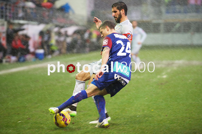 Atletico de Madrid spanish foward Raul Garcia during the league football match with Atletico de Madrid vs Eibar CF at the Ipurua stadium in Eibar on Jaunary 31, 2015. Rafa Marrodan / Photocall3000.