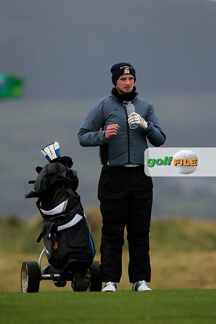 Stephen Coulter (Warrenpoint) on the 4th during the Stroke Play Round 1 of the West of Ireland Amateur Open Championship at the Co. Sligo Golf Club in Rosses Point on Friday 25th March 2016.<br /> Picture:  Golffile / Thos Caffrey