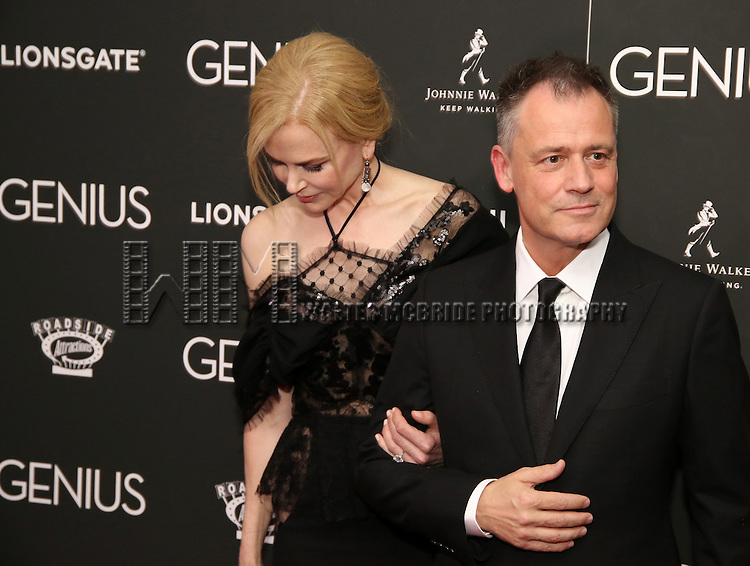 Nicole Kidman and Michael Grandage attends 'Genius' New York premiere at Museum of Modern Art on June 5, 2016 in New York City.