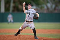 Edgewood Eagles starting pitcher Ryan Fields (9) during the second game of a double header against the Bethel Wildcats on March 15, 2019 at Terry Park in Fort Myers, Florida.  Bethel defeated Edgewood 3-2.  (Mike Janes/Four Seam Images)