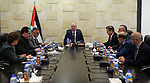 Palestinian Prime Minister, Rami hamadallah, chairs the First meeting of the National Team for Administrative Development, in the West Bank city of Ramallah on August 10, 2017. Photo by Prime Minister Office