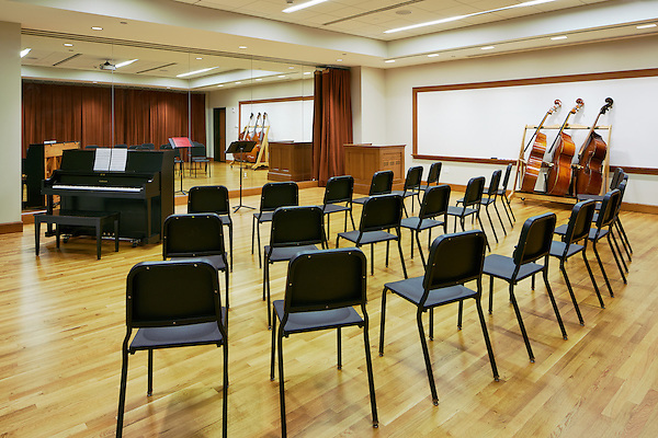 The music ensemble practice room at Marist College, Poughkeepsie, NY.