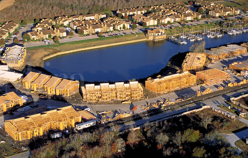 Construction; Aerial ; Condominium ; development ; real estate ; waterfront ;. Houston Texas.