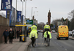 Police presence outside Goodisn Park - Barclays Premier League - Everton vs Liverpool - Goodison Park Stadium  - Liverpool - England - 7th February 2015 - Picture Simon Bellis/Sportimage