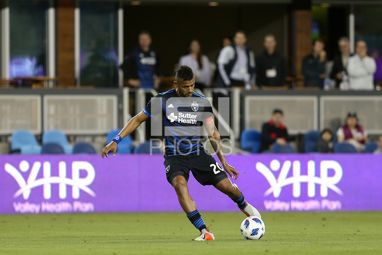 San Jose, CA - Saturday October 06, 2018: Anibal Godoy during a Major League Soccer (MLS) match between the San Jose Earthquakes and the New York Red Bulls at Avaya Stadium.