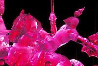 Award winning Ice sculpture, The Joust, World Ice Sculpting Competition, Fairbanks, Alaska