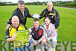 Members of the Abbeyfeale Ruby club prepare for the annual Noelie Roche 7 aside mixed tag ruby competition to be held this Saturday in Abbeyfeale ruby grounds, pictured l-r: Charlie McCarthy, John Moloney, Ger Foley, Colette Moloney and Bobby O'Connell.