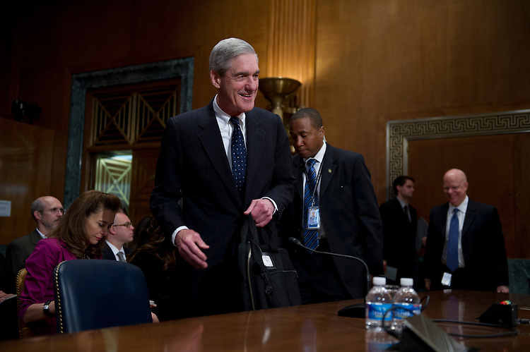 UNITED STATES - May 16: Director of the FBI, Robert Mueller before the start of the Appropriation subcommittee hearings to examine proposed budget estimates for fiscal year 2014 for the Federal Bureau of Investigation.  (Photo By Douglas Graham/CQ Roll Call)