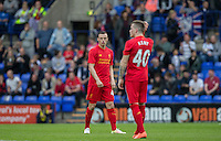 Brad Smith of Liverpool looks to Ryan Kent of Liverpool during the 2016/17 Pre Season Friendly match between Tranmere Rovers and Liverpool at Prenton Park, Birkenhead, England on 8 July 2016. Photo by PRiME Media Images.